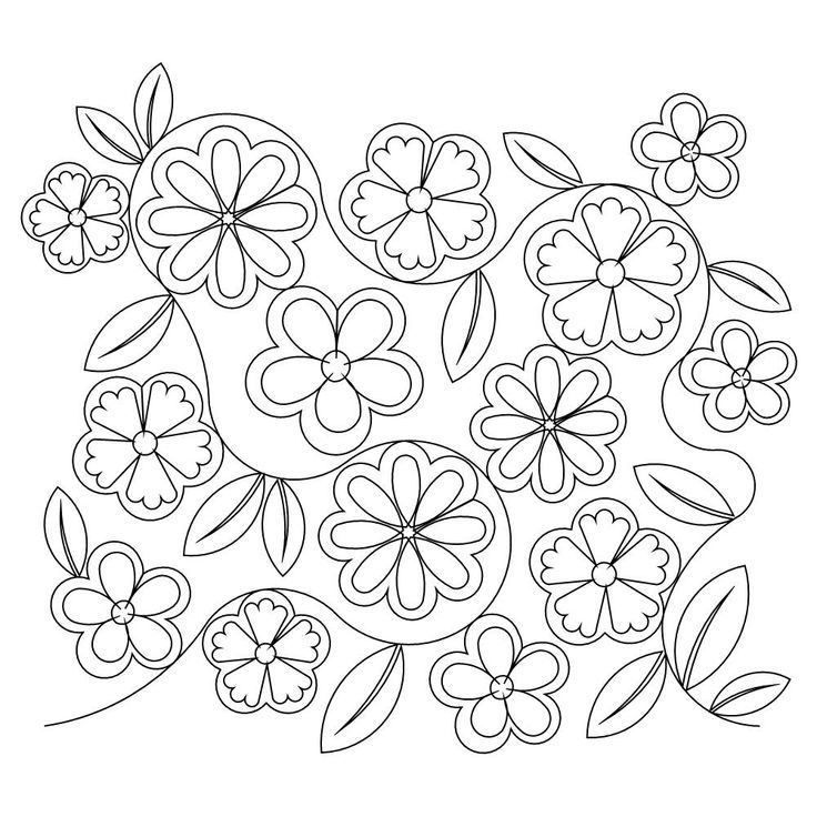 Traceable Quilting Templates : Flower Patterns To Trace - AZ Coloring Pages