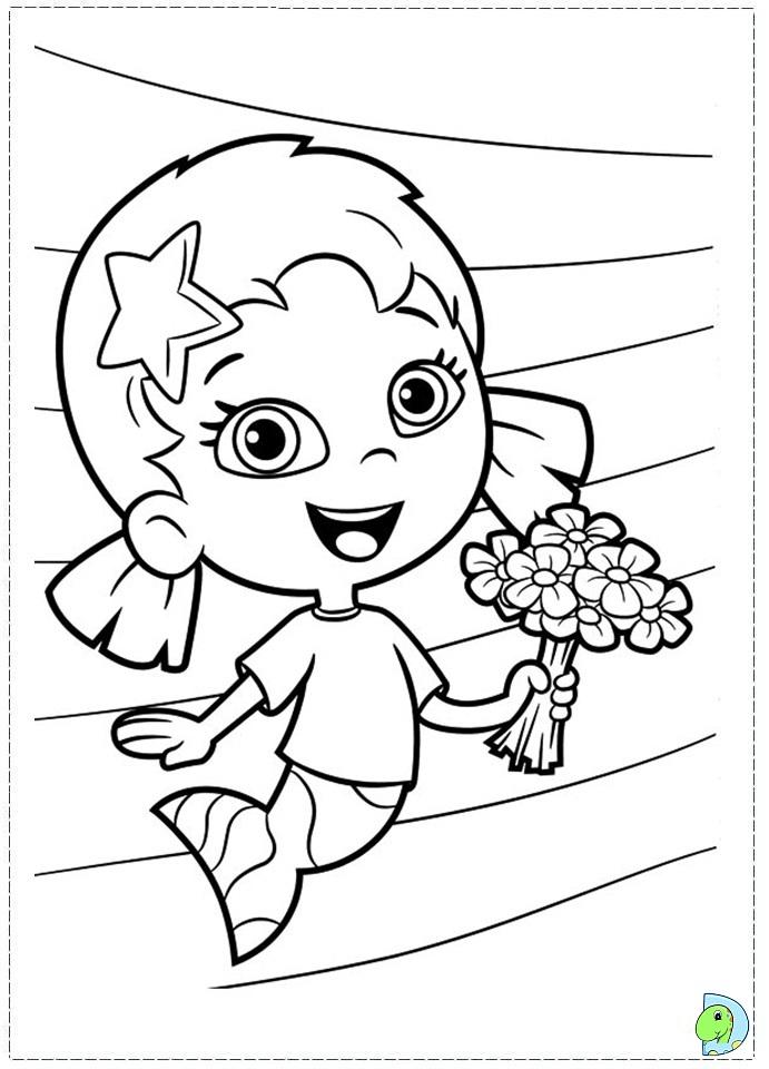 Bubble guppies coloring page az coloring pages - Coloring bubble guppies ...