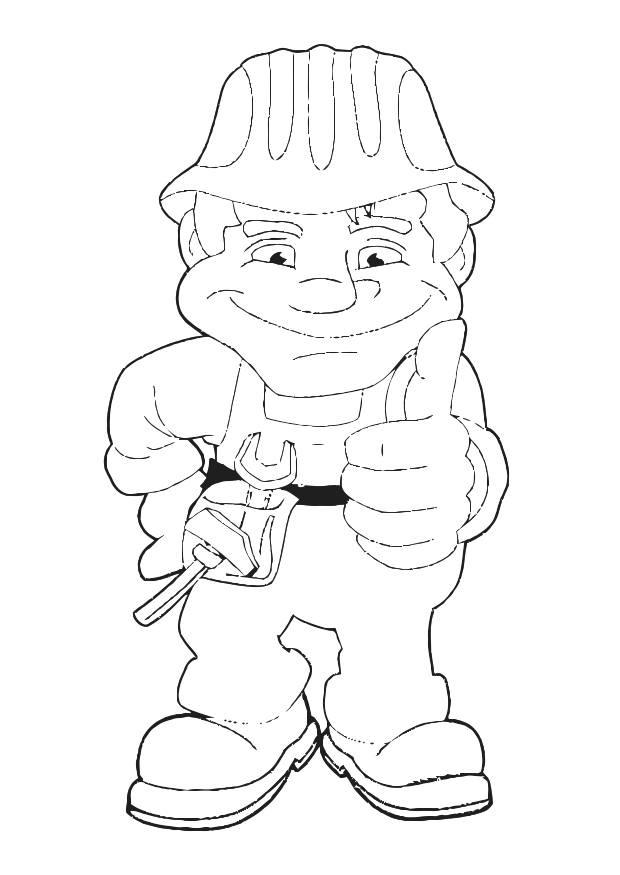 Coloring page construction worker - img 28476.