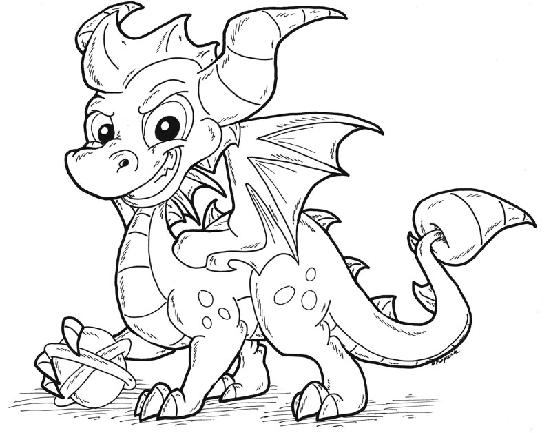 spyro the dragon coloring pages - dark spyro skylander free colouring pages