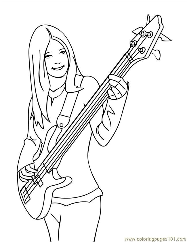 Guitar Coloring Pages - Coloring Home