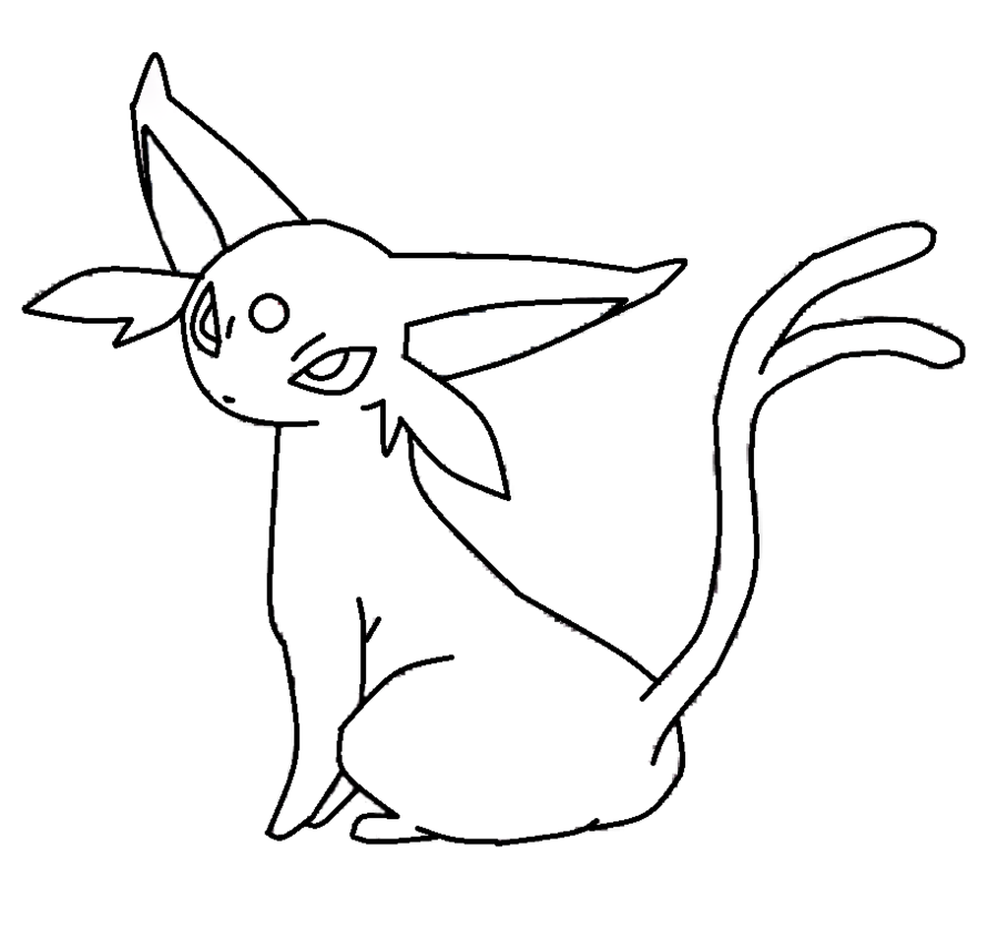 eevee evolutions coloring pages leafeon - photo#17