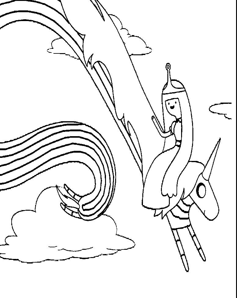 Adventure Time : Adventure Time Finn Prepares Go Coloring Pages