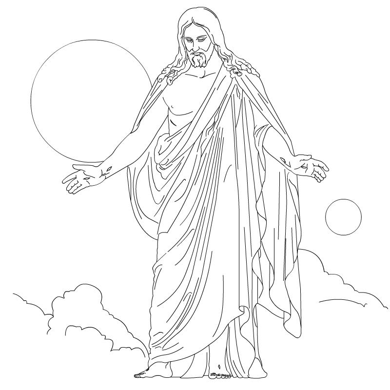 Jesus is risen coloring page az coloring pages for Jesus is risen coloring page