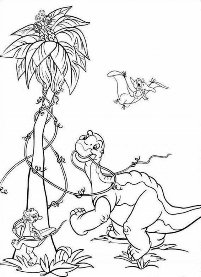 Tree Land Before Time Coloring Page Coloringplus 277984 Land - Coloring Home