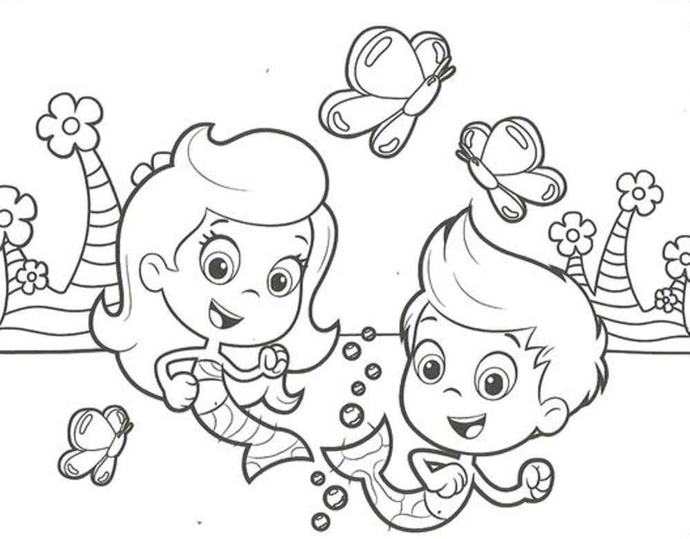 Download Gil Molly Bubble Guppies Coloring Pages Or Print Gil