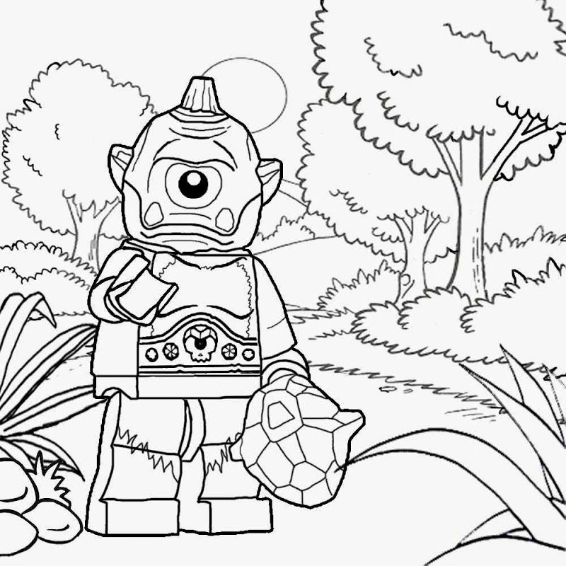 Lego Minifigure Coloring Pages