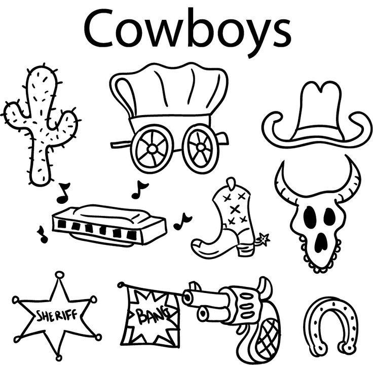 Wild west activities for kids coloring home for West to best items ideas