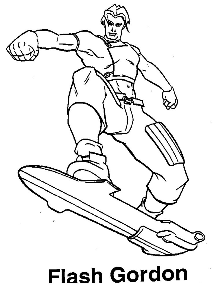 flash gordon coloring pages free - photo#1