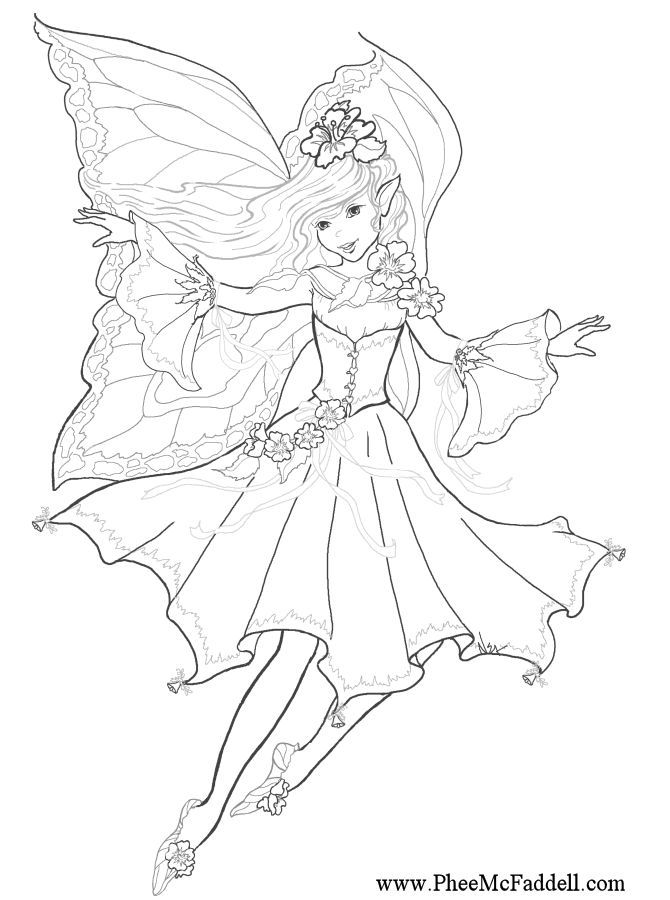 detailed printable fantasy coloring pages - photo#46