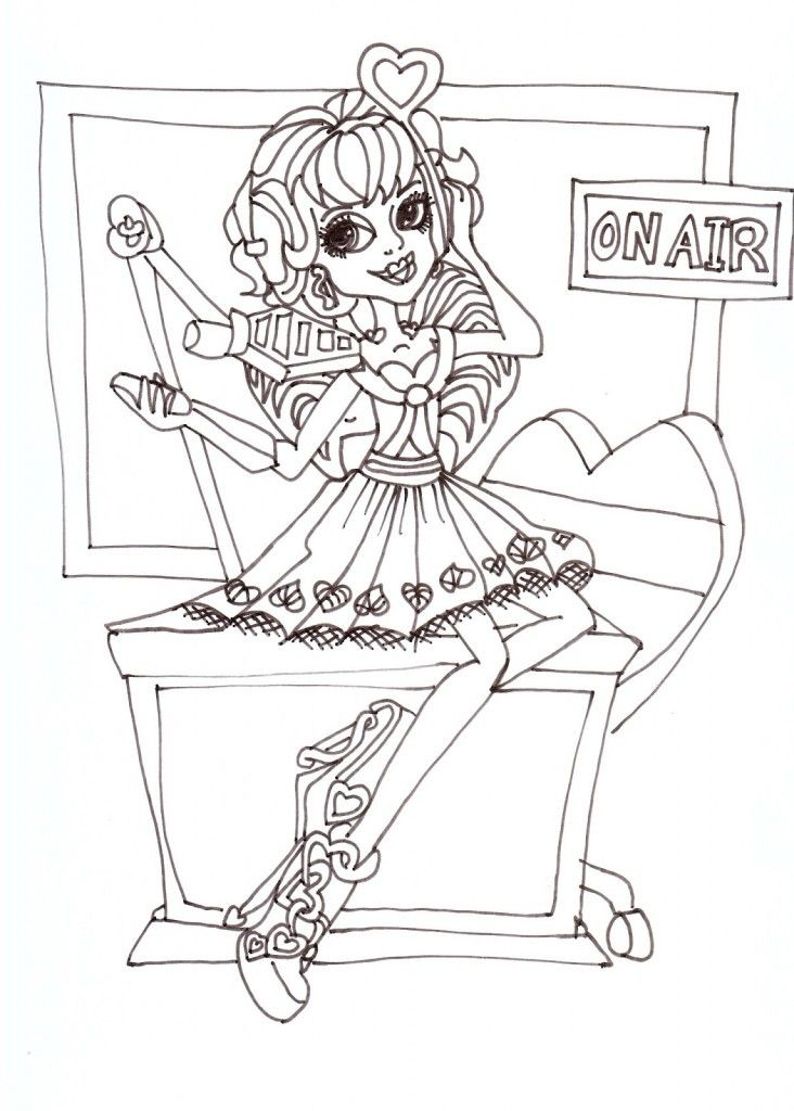 baby draculaura coloring pages - photo#25