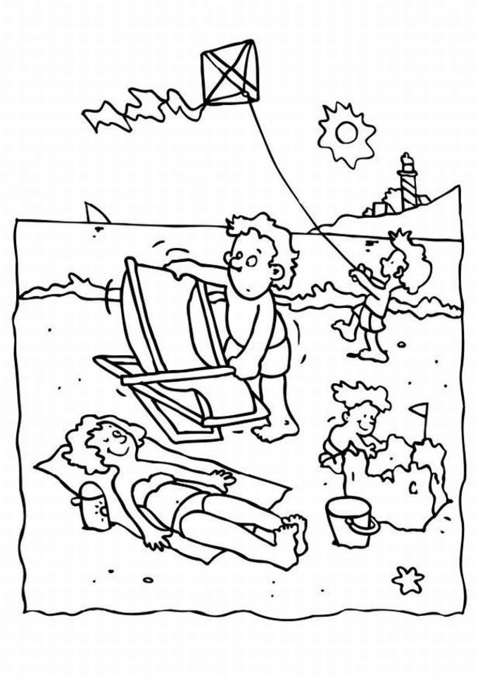summer camp coloring pages - photo#7