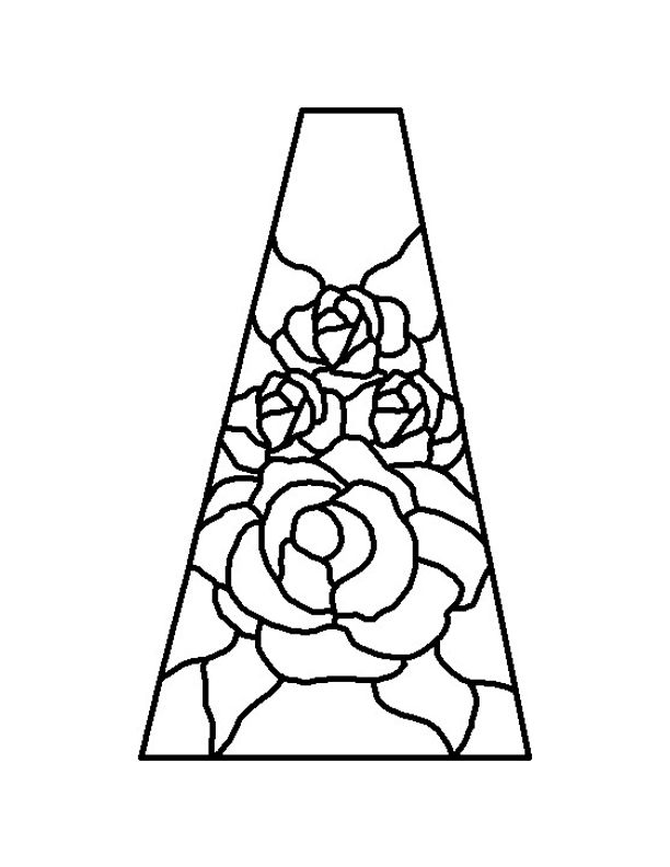 free lampshade patterns for stained glass az coloring pages