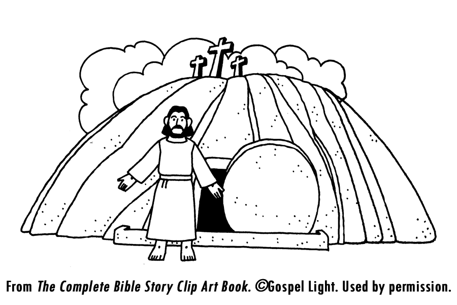 Empty Tomb Coloring Page Home