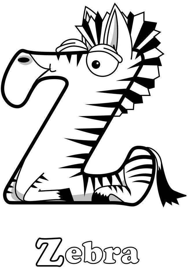 Zebra Coloring Sheets