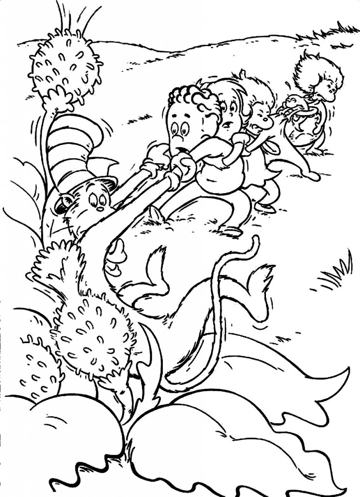 Dr Seuss Oobleck Coloring Page