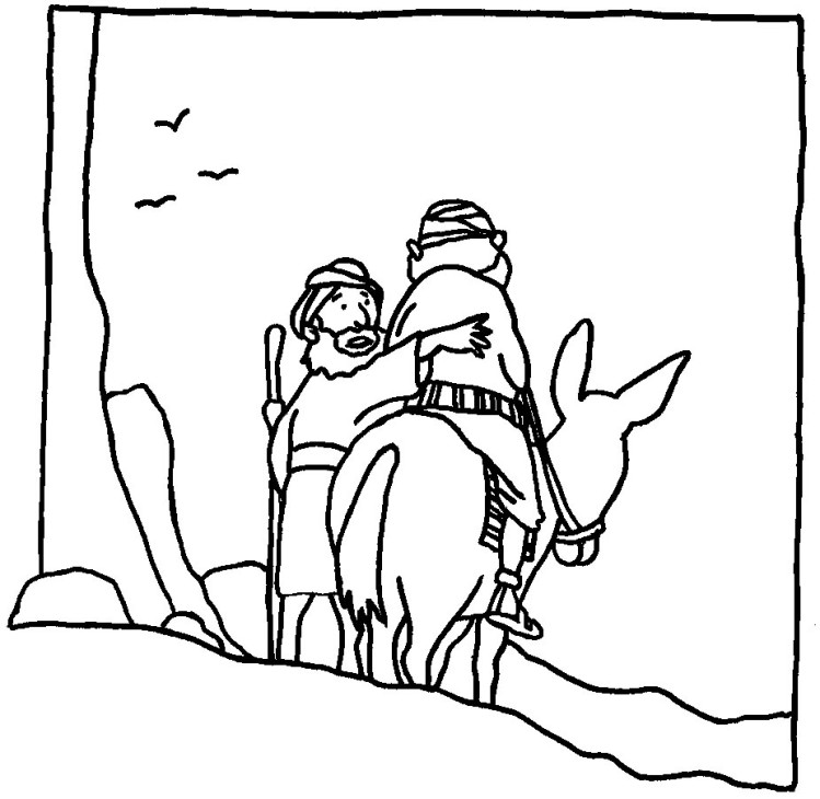 The Good Samaritan Coloring Pages