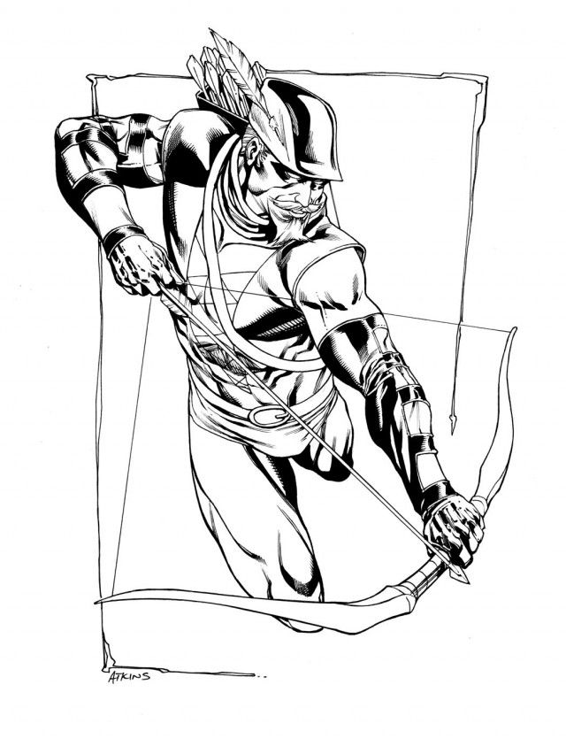 Adult Coloring Pages Green Arrow