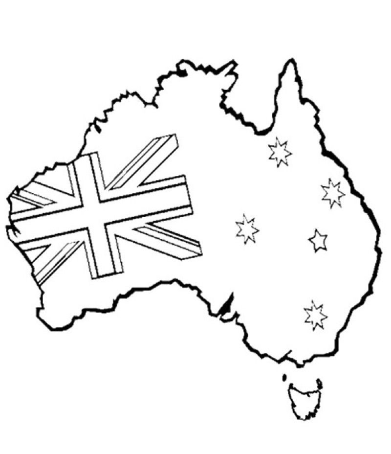 Australian Coloring Pages