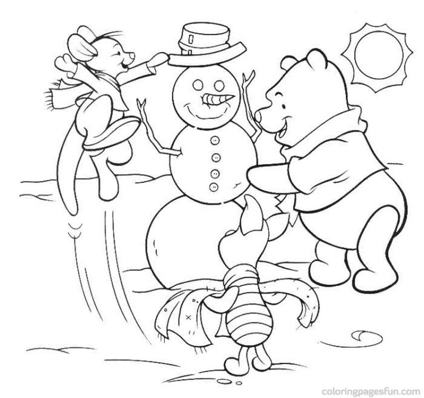 xmas disney coloring pages - photo#28