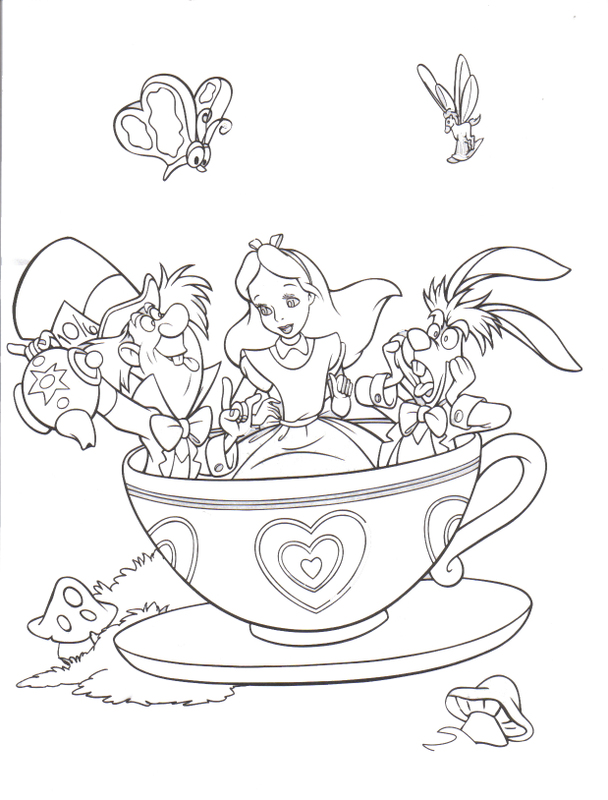alice wonderland coloring pages az coloring pages