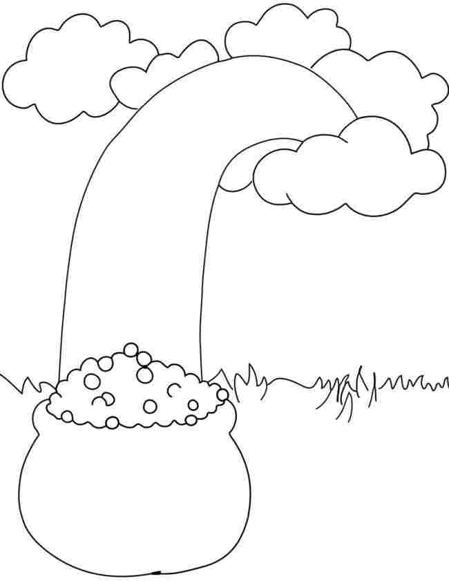 Pot Of Gold Coloring Page Az Coloring Pages Gold Coloring Pages
