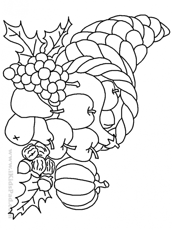 Harvest Coloring PDF Picture To Color | 933x700