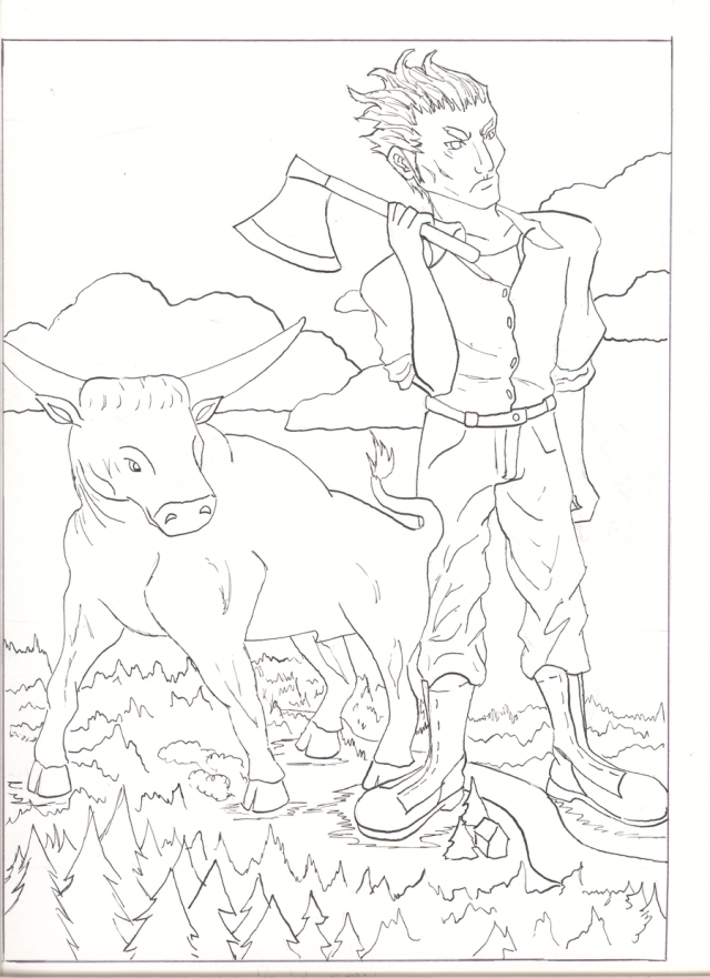 Paul Bunyan Coloring Pages Coloring Pages Coloring Pages For