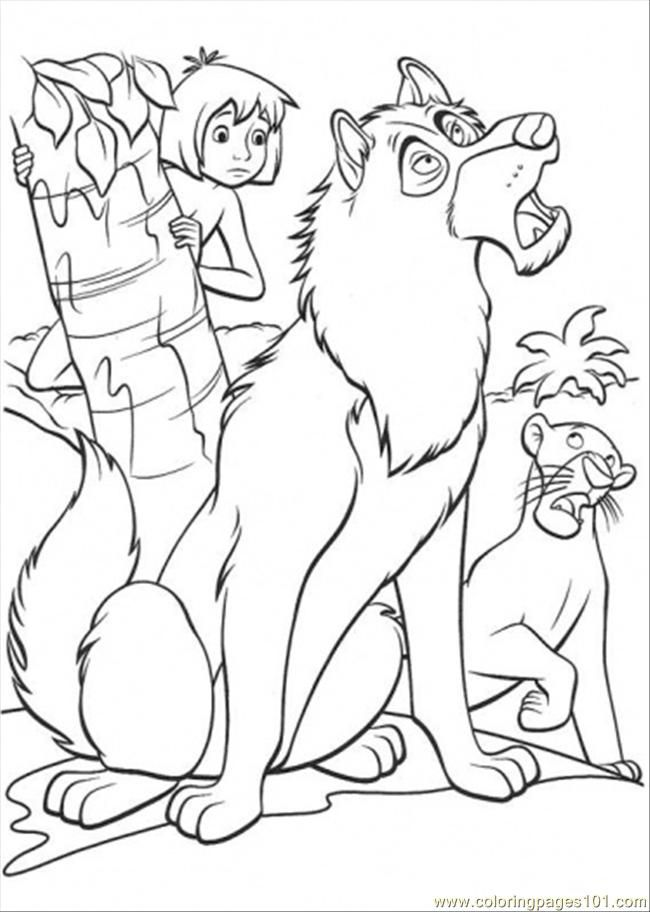 jungle book coloring page coloring home