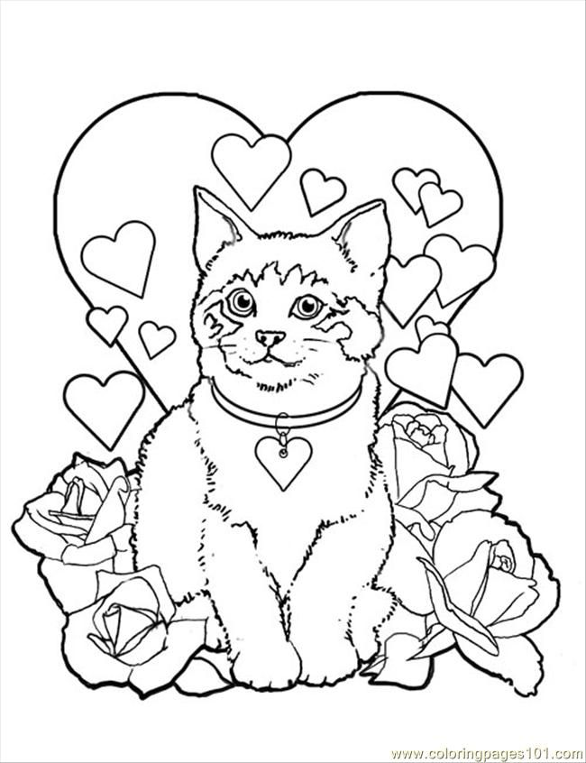 free coloring pages cats coloring home