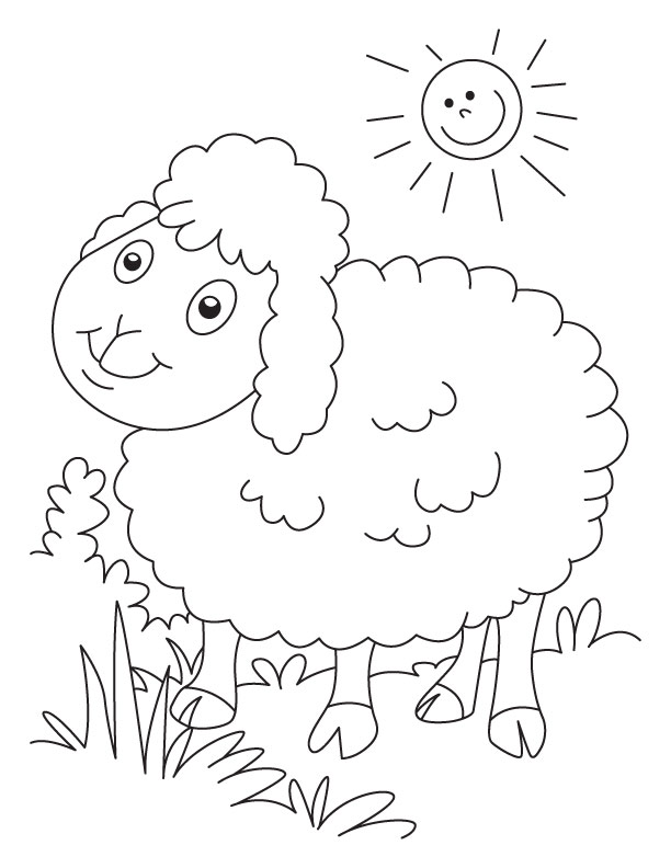 Lost Sheep Coloring Page AZ Coloring Pages