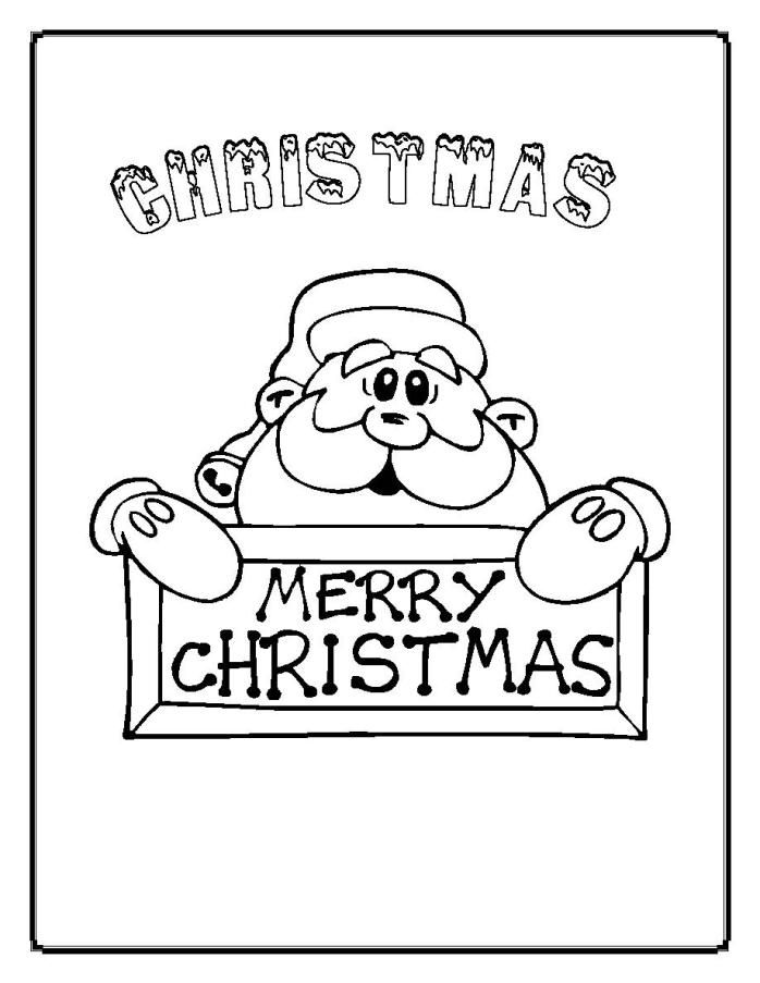 Merry Christmas Coloring Pages - Coloring Home