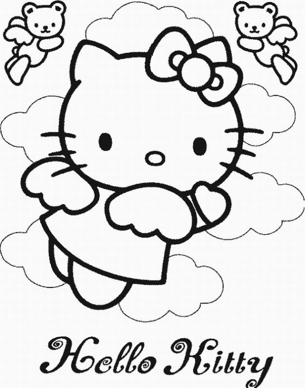 hello little kitty coloring pages - photo#7