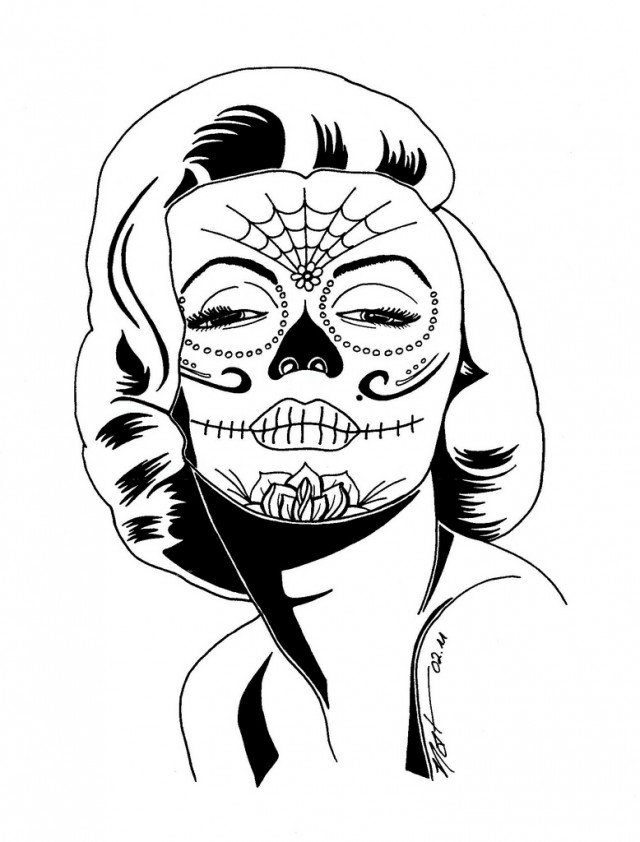 Sugar Skull Coloring Pages in addition Christmas Lightbulb Template furthermore Vinilo Decorativo Madonna 221 furthermore 262172048841 as well Coloriage Disney. on elvis silhouette stencils