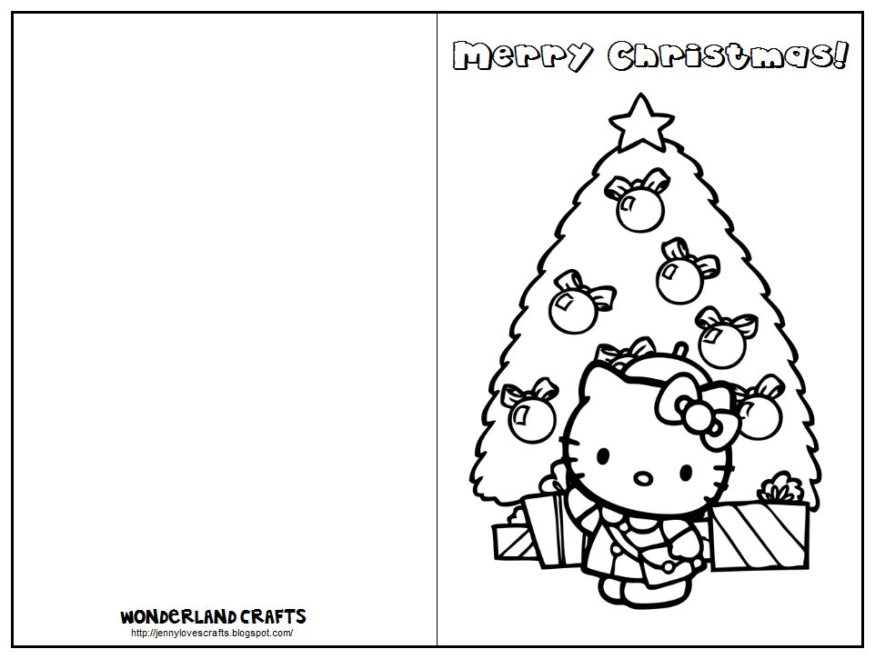 Hello kitty birthday card printable free coloring home for Christmas cards coloring pages