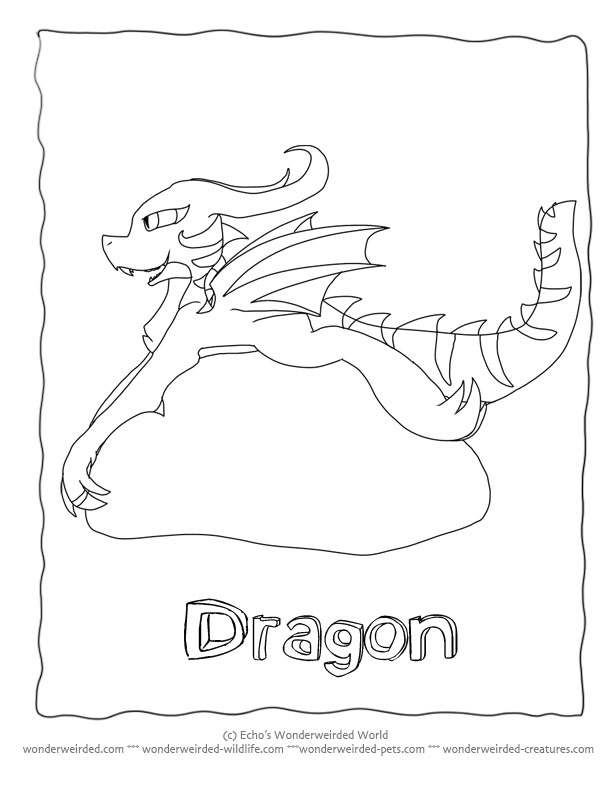 cartoon dragons coloring pages - photo#23
