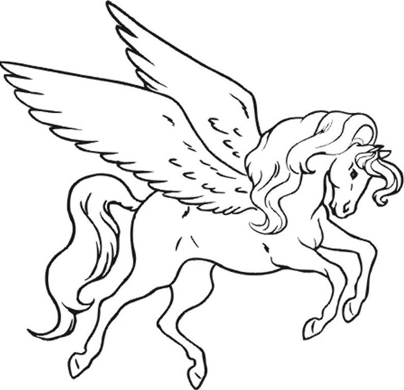 Unicorn Pegasus Coloring Pages Coloring Home Unicorn Coloring Pages For Printable