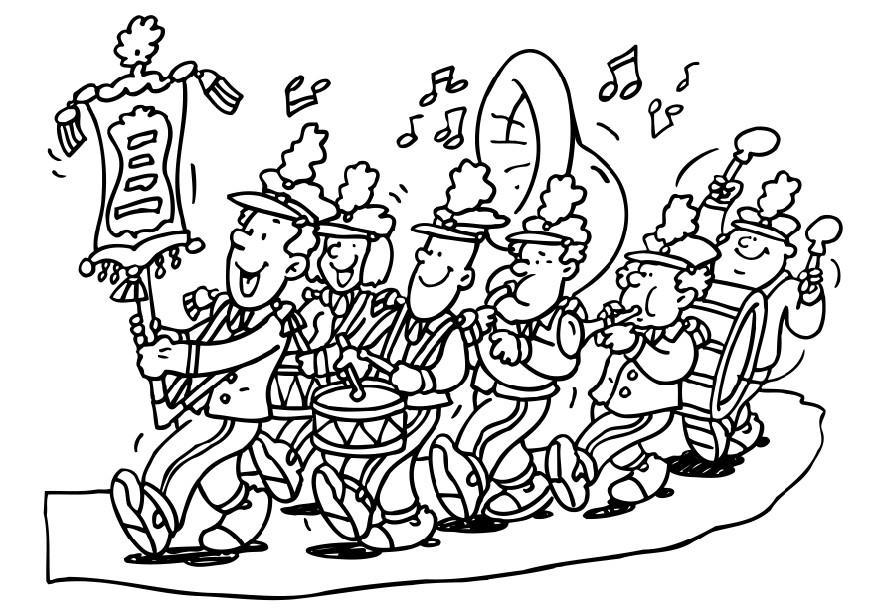 Coloring page marching band - img 6591.