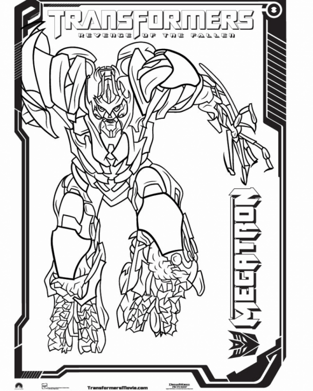 megatron characters transformers coloring pages easy coloring