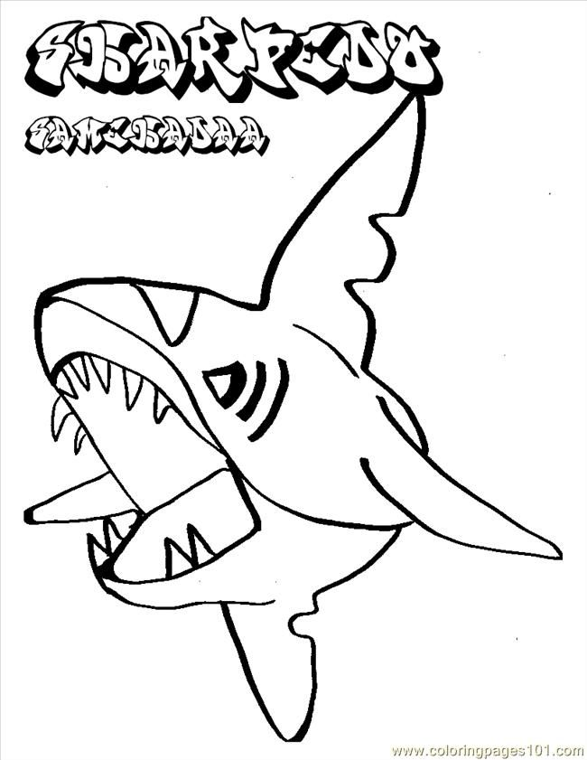 Coloring Pages Pokemon Shark (Fish > Shark) - free printable