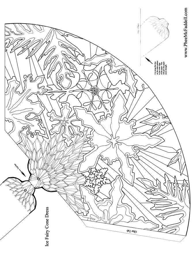 Coloring Pages Ice Princess : Ice fairy princess coloring page home