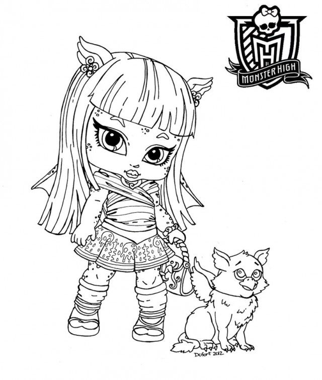 Monster High Coloring Pages Baby Skelita Coloring For Kids