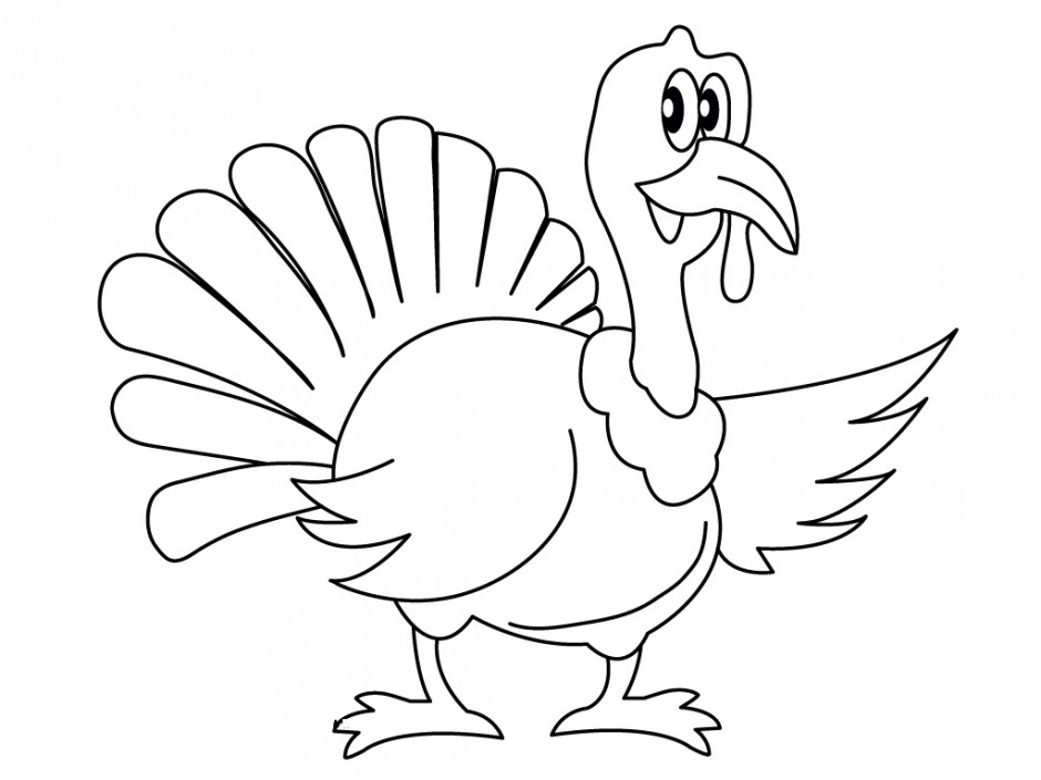 Turkey Coloring Pages For Kindergarten : Thanksgiving turkey colouring pages for preschool id