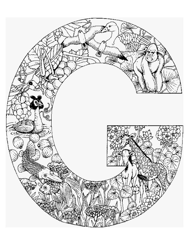 g coloring pages - photo #14