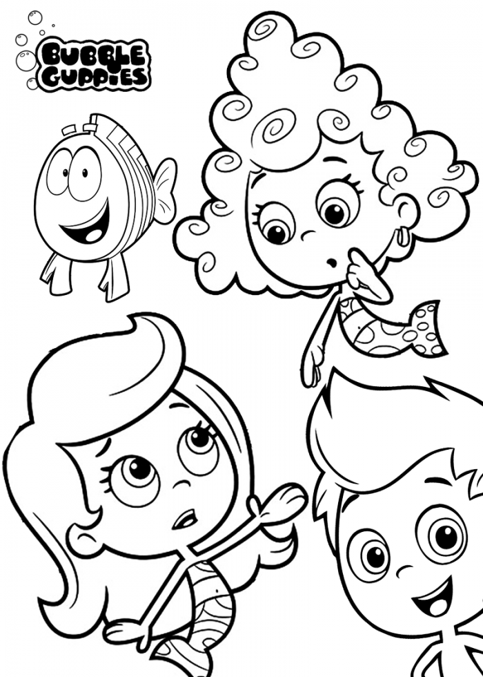 Bubble Guppies Printable Coloring Pages Picture | 99coloring.com