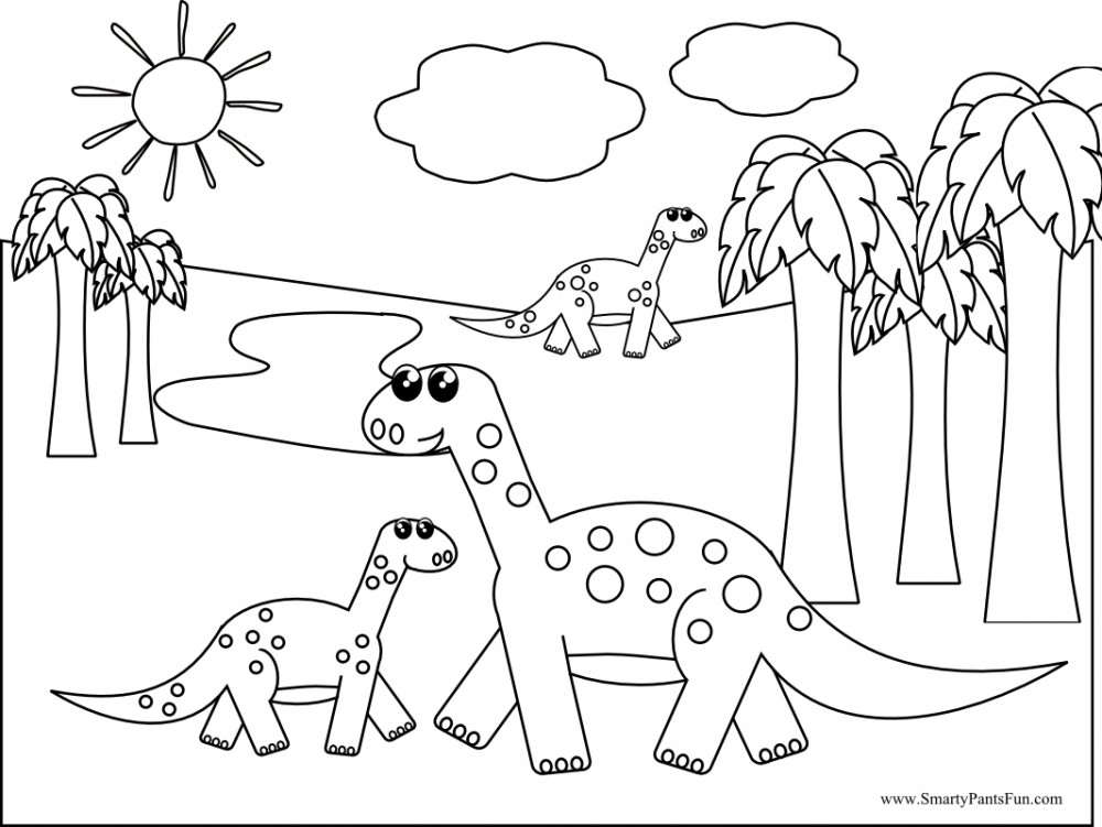 Online Dinosaur Coloring Pages : Coloring Book Area Best Source