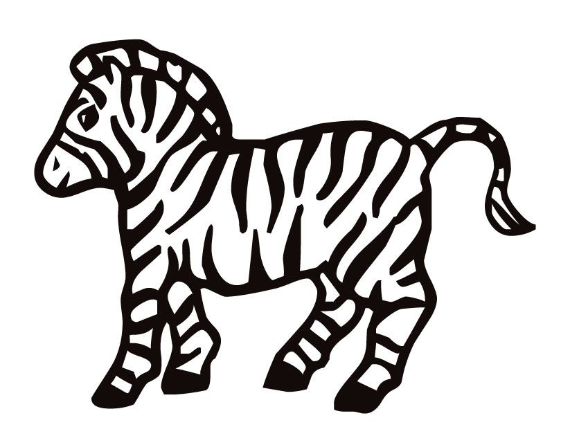 Baby Zebra Coloring Pages Coloring