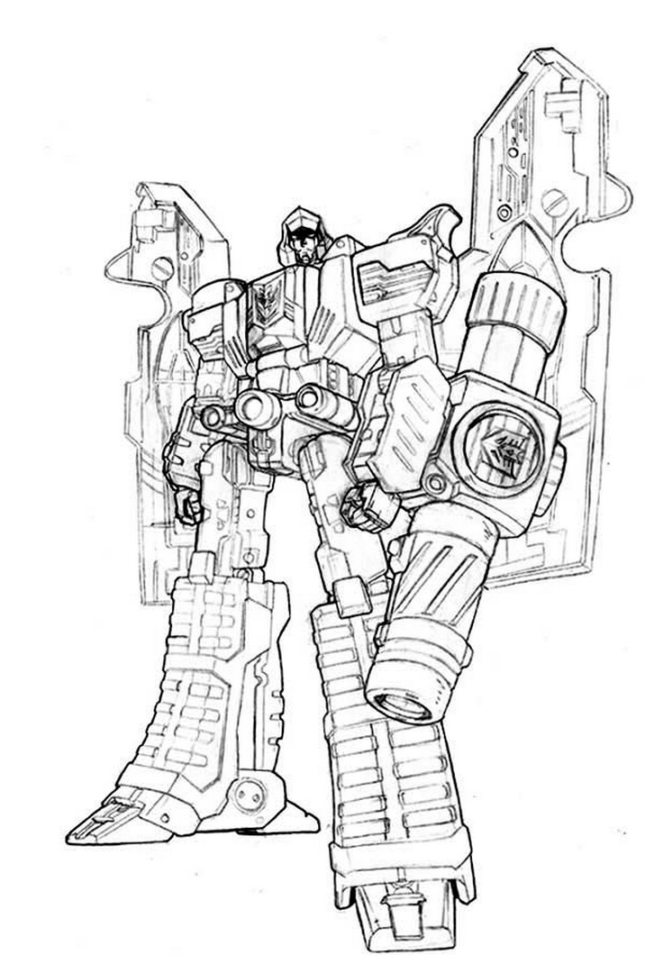 Megatron Transformers Coloring Pages Coloring Pages