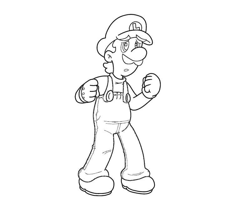 free coloring pages of luigi - photo#26