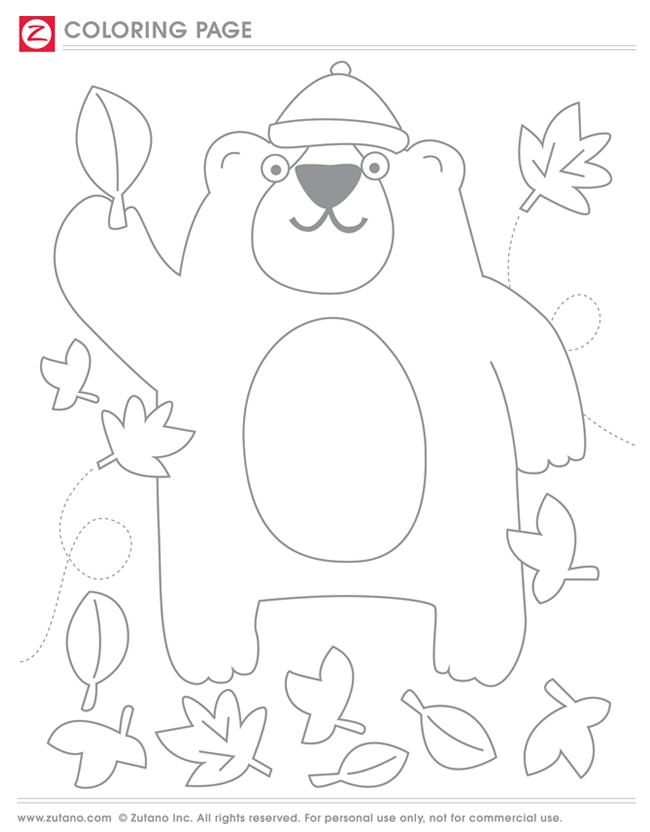 coloring pages bear hibernating - photo#26